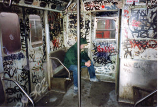 昔のニューヨークの地下鉄